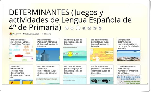 11 juegos y actividades sobre DETERMINANTES en Lengua Española de 4º de Primaria