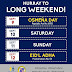 Long Holiday Weekend for Cebu Province (Sept. 9-12, 2016) Pay Rules