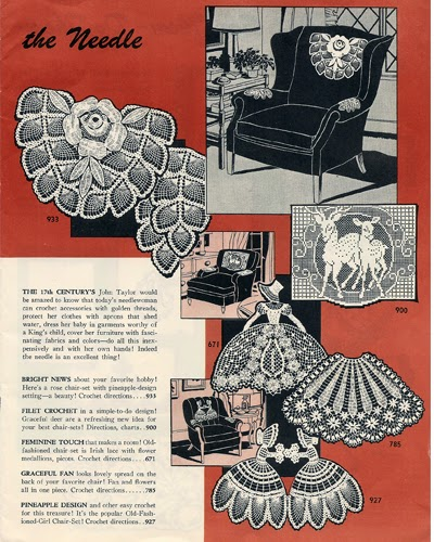 Old Fashioned Girl Chair Set Crochet Pattern Marketed as Laura Wheeler 785