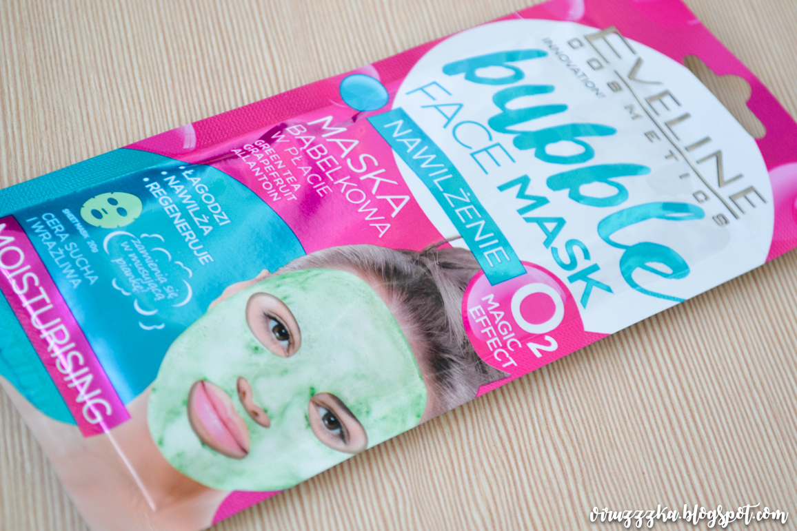 Eveline Cosmetics Bubble Face Mask Moisturising Review & Swatches