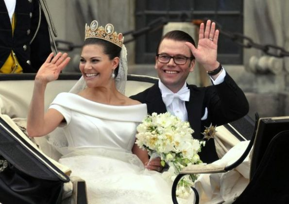 Crown Princess Victoria and Prince Daniel on their wedding day in 2010