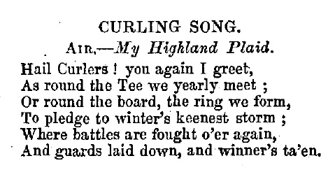 Curling History: Thank You For The Music: Curling Songs 1792 - 2018