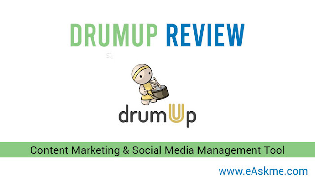 DrumpUp Review: Content Marketing & Social Media Management Tool: eAskme