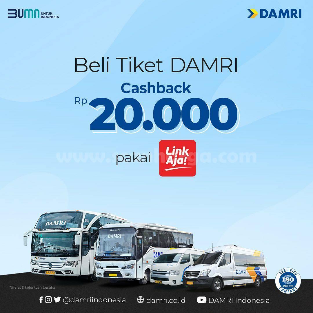 Promo DAMRI Terbaru - Beli Tiket Damri Cashback Rp 20.000 Pakai LinkAja