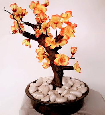 Gambar Bunga Plastik Anggrek Orange