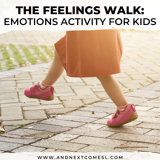 Emotions activity for preschoolers and toddlers to notice how feelings look and feel in their body