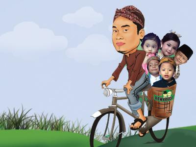 kartun naik sepeda - Kartunnia.com