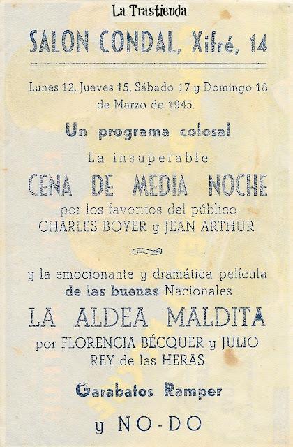 Programa de Cine - Cena de Media Noche (1945) - Charles Boyer - Jean Arthur
