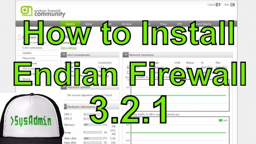How to Install Endian Firewall 3 2 and Review on VMware