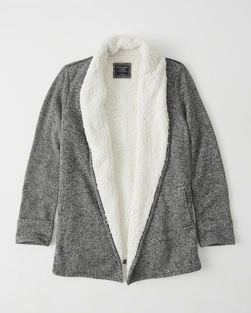 Abercrombie: Sherpa-Lined Cardigans only $35 (reg $88)!