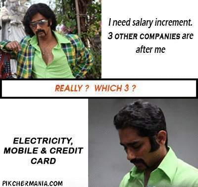 salary increment funny