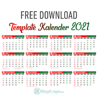 Template Kalender 2021 Logo Vector cdr Free Download