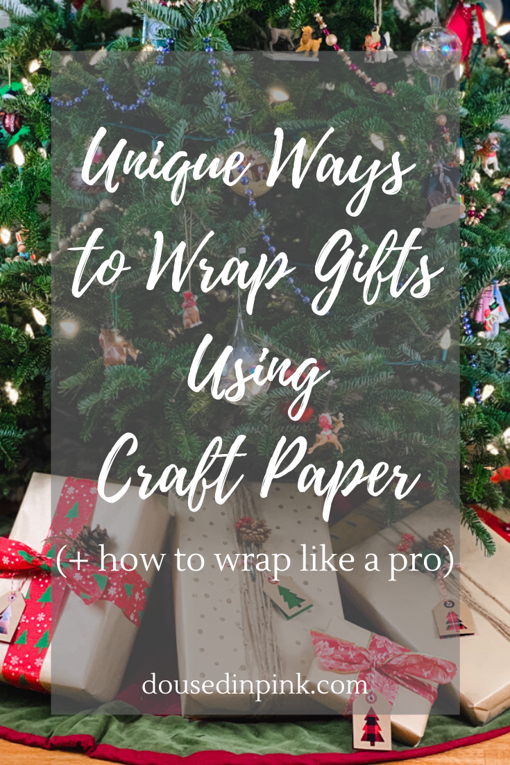 Unique ways to wrap gifts using craft paper