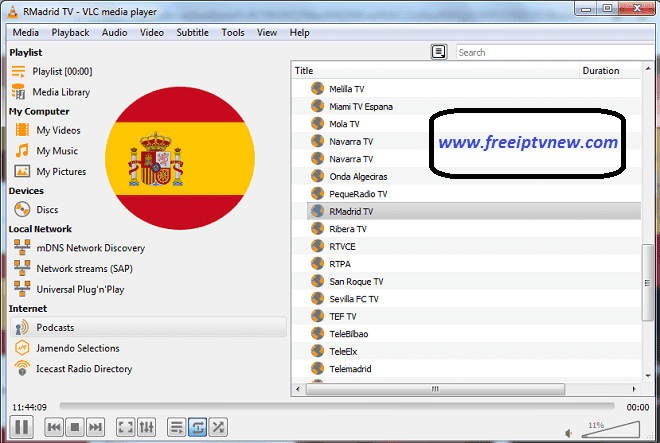 Spanish free iptv m3u playlis