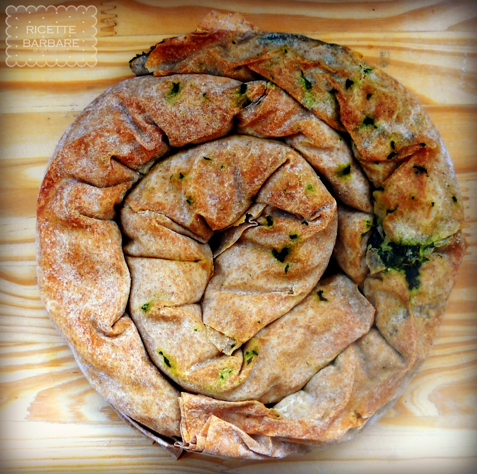 Ricette barbare torta salata di spinaci or easy spinach pie for Cucinare spinaci