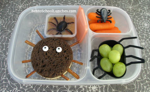 Spider Halloween bento lunch.