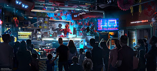 Spiderman Ride Disney California Adventure Preshow Concept Art
