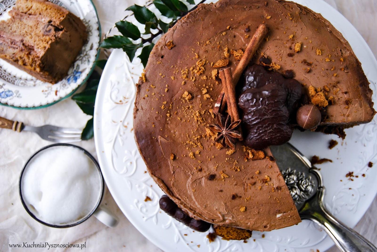 721. Tort piernikowy z kremem czekoladowym