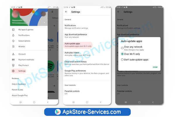 تحديث التطبيقات على متجر سوق جوجل بلاي ستور