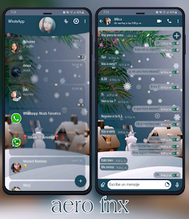 Snow Man Theme For YOWhatsApp & Fouad WhatsApp By Ave fénix