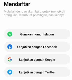 daftar menggunakan media sosial di hello