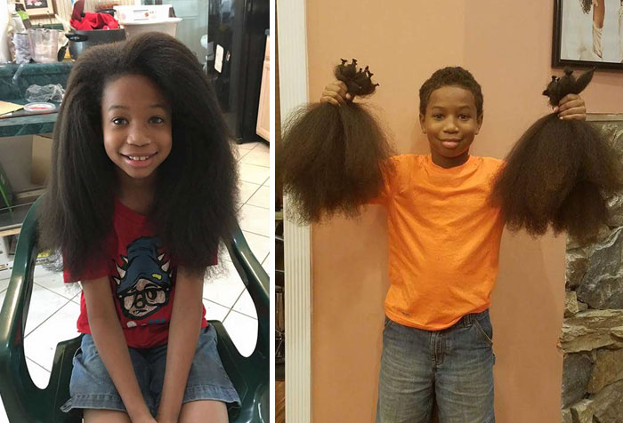 40 Times 2016 Restored Our Faith In Humanity - This 8-Year-Old Boy Spent 2 Years Growing His Hair To Make Wigs For Kids With Cancer