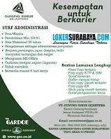 Karir Surabaya di PT. Gunung Subur Sejahtera Agustus 2020