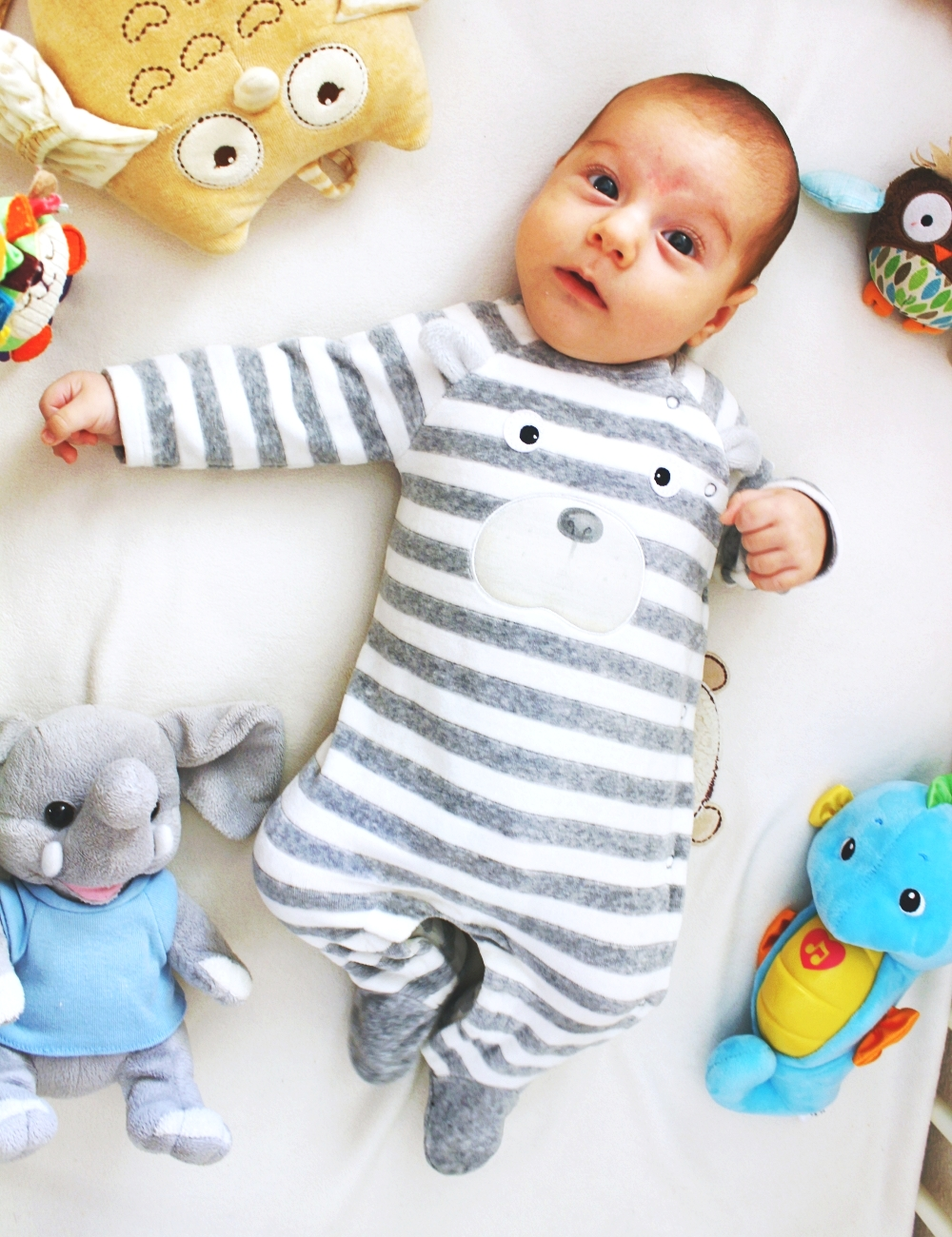 gray white stripes velvet onesie, cute bay clothes, mayoral kids