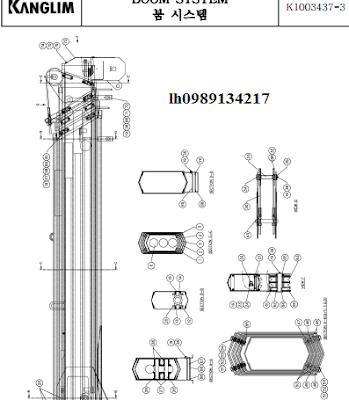 Đốt cần của cẩu Kanglim 3 tấn KS733N-KS734N-KS735N