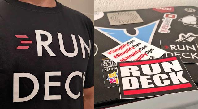 أحصل على قميص t-shirt و ملصقات من rundeck مجانا حتى باب منزلك