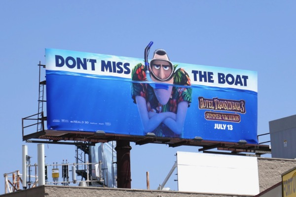 Hotel Transylvania 3 Summer Vacation Vlad Dracula billboard