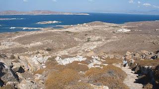 Isla de Delos con su puerto
