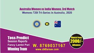 IN-W vs AU-W Womens T20 3rd T20