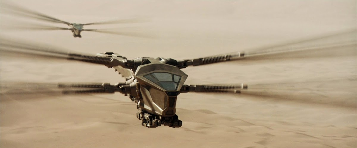 Ornithopter in Dune (2021) movie
