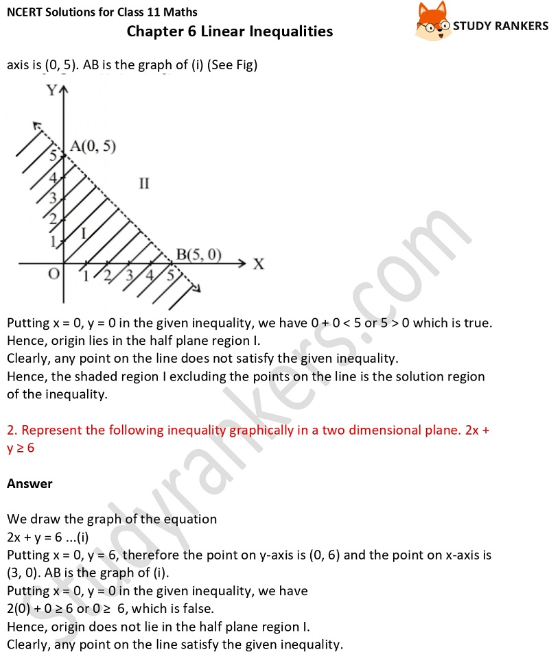 NCERT Solutions for Class 11 Maths Chapter 6 Linear Inequalities 10