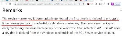 Alter Service Master Key