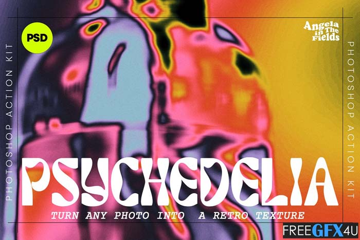 Psychedelic Texture Kit Photoshop PSD Action