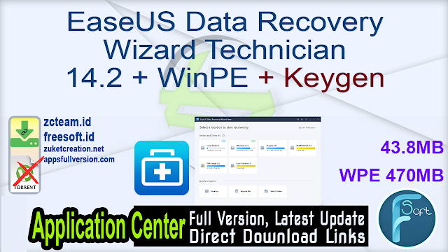EaseUS Data Recovery Wizard Technician 14.2 + WinPE + Keygen_ ZcTeam.id