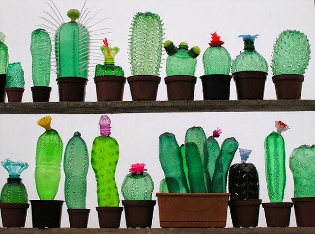 Esculturas con botellas de plastico
