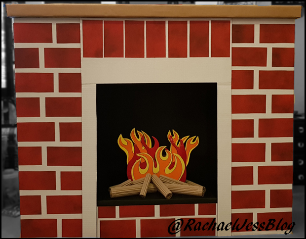 How to make a pretty fireplace for Santa's Grotto on a budget