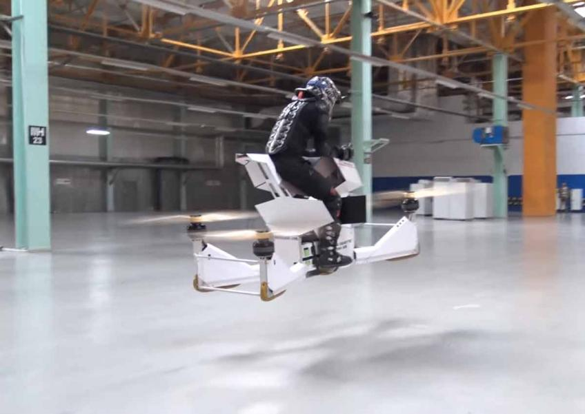 Hoversurf Scorpion by a Russian startup, one of the three human-carrying drones that have already been prototyped.