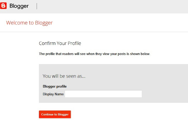 If you just create Gmail during the registration of your blog (with an existing account), you may see this.