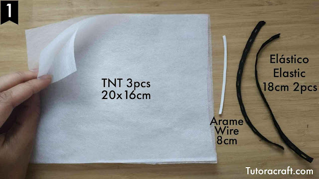 como fazer máscara de TNT passo a passo 1