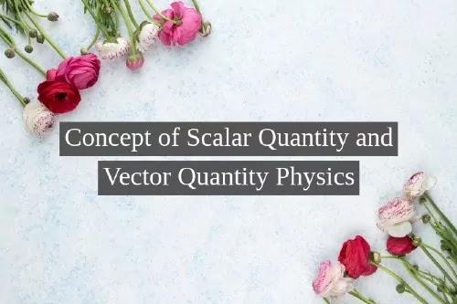 Concept of Scalar Quantity and Vector Quantity Physics