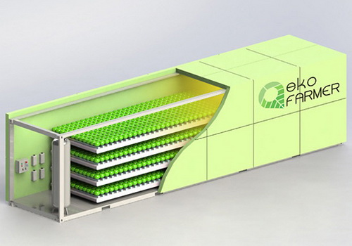 www.Tinuku.com EkoFARMER urban agricultural module design by Exsilio