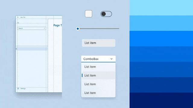 Windows 11 UI with rounded geometry for apps