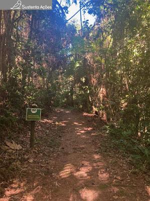 Começo da trilha no Parque São Francisco