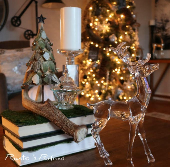 Coffee table styling for Christmas