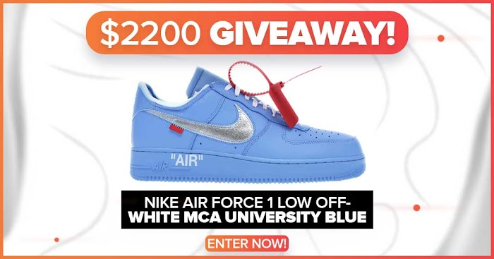 Air Force 1 Low Off-White MCA University Blue Giveaway (Worth Over : $2200)