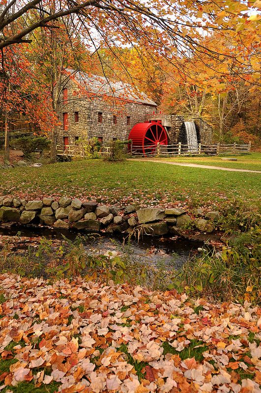 Wayside Inn Grist Mill in Sudbury, Massachusetts, USA